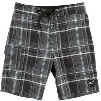 Boy's O'Neill Santa Cruz Plaid Board Shorts $35 thestylecure.com