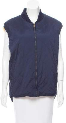 Loro Piana Knit-Trimmed Quilted Vest
