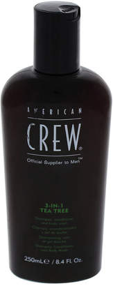 American Crew 8.4Oz 3-In-1 Tea Tree Shampoo & Conditioner & Body Wash