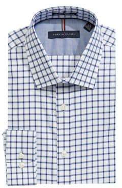 Tommy Hilfiger Slim-Fit Checkered Cotton Dress Shirt