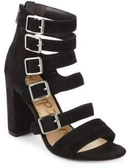 Sam Edelman Zip Leather Open Toe Sandals