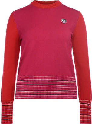 Kenzo (ケンゾー) - Kenzo Pink And Red Roundneck Jumper