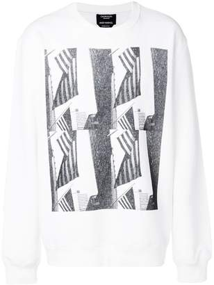 Calvin Klein graphic print jersey sweater
