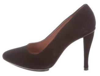 Robert Clergerie Suede Pointed-Toe Pumps