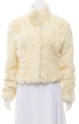 Fur Shearling Collared Jacket