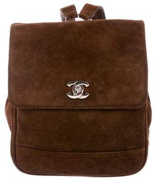 Chanel CC Suede Backpack