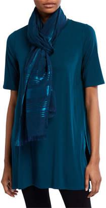Eileen Fisher Organic Cotton/Silk Shimmer Scarf