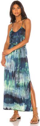 Raquel Allegra Pintuck Slip Dress
