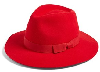 Women's Brixton 'Indiana' Wool Fedora - Red $52 thestylecure.com