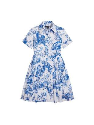 Oscar de la Renta Toile de Jouy Cotton Shirtdress