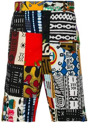Engineered Garments African patchwork shorts