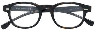 HUGO BOSS tortoiseshell-effect round sunglasses