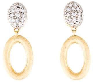 Marco Bicego 18K Diamond Siviglia Open Drop Earrings