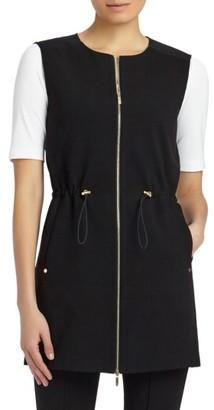 Women's Lafayette 148 New York Punto Milano & Woven Vest $448 thestylecure.com