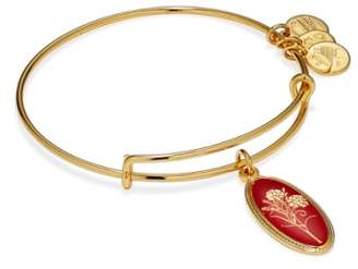 Alex and Ani Birth Flower Expandable Charm Bangle