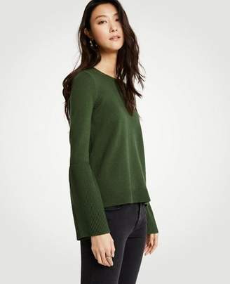 Ann Taylor Wide Rib Sleeve Sweater