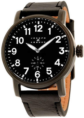 Joseph Abboud joe  Mens Black Strap Watch-Ja3211bk648-362