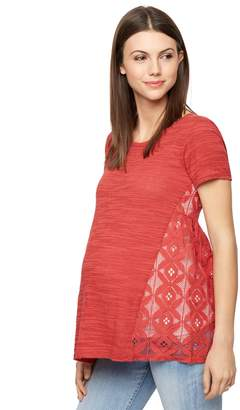 A Pea in the Pod Lace Back Maternity Top