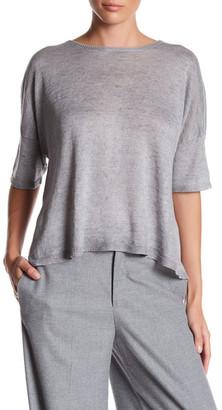 Eileen Fisher Short Sleeve Organic Linen Sweater $218 thestylecure.com