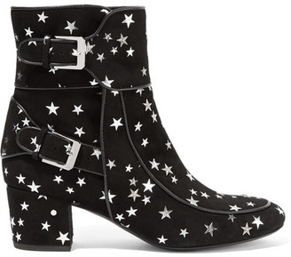 Laurence Dacade - Babacar Embellished Suede Ankle Boots - Black $940 thestylecure.com