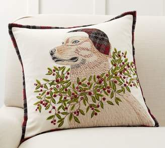Pottery Barn Christmas Lab Pillow Cover