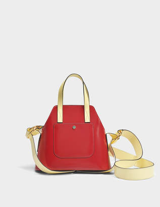 Marni Small shopping Bag in Indian Red and Citron Domesticated Calf