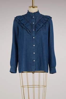A.P.C. Suzie denim blouse