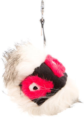 FendiFendi 2016 Fur Kurioso Bag Bug Charm