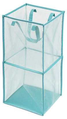 Room Essentials Mesh Rectangular Laundry Hamper - Aqua