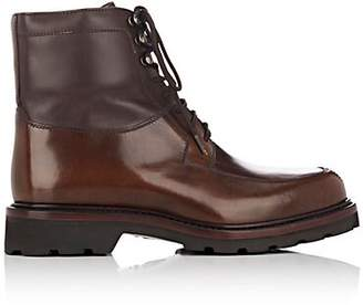 Cartujano Espana Women's Leather Combat Boots - Brown