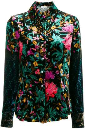 Pierre Louis Mascia Pierre-Louis Mascia floral embroidered shirt