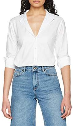 Fruit of the Loom Women's Oxford Long Sleeve Shirt,10 (Manufacturer Size:)
