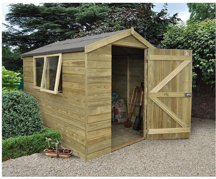 FOREST 8 X 6ft Premium Tongue & Groove Pressure Treated Apex Shed