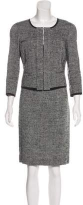 Narciso Rodriguez Tweed Knee-Length Dress Set