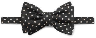 Alexander McQueen Pre-Tied Polka-Dot Silk-Jacquard Bow Tie