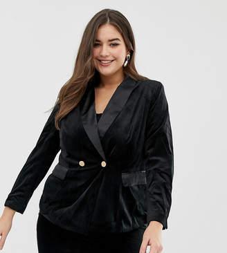 Lovedrobe velvet suit blazer