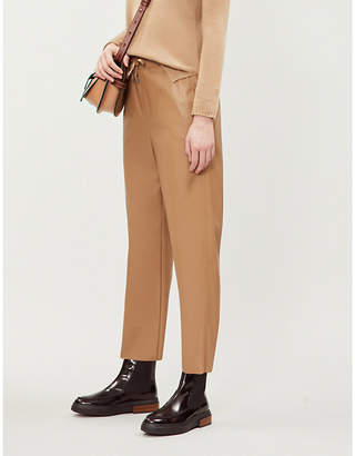 Max Mara Glasgow straight cropped shell trousers