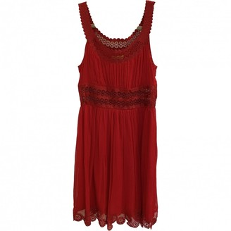 Catherine Malandrino Red Silk Dress for Women
