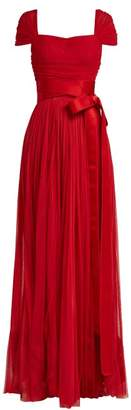 Dolce & Gabbana Layered Silk Tulle Gown - Womens - Red