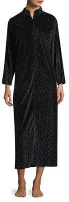 Velvet Interlock Zip Caftan