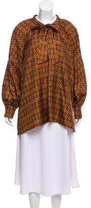 Elizabeth and James Oversize Printed Silk Tunic