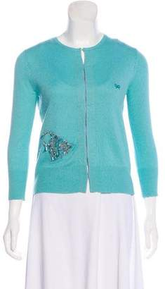 Anya Hindmarch Embellished Long Sleeve Cardigan