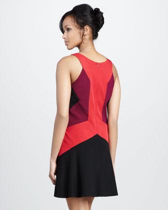 Jay Godfrey Ullman Colorblock Dress