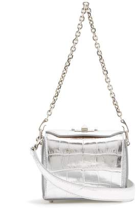 Alexander McQueen Box Bag 16 crocodile-effect leather shoulder bag