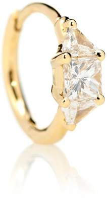 Maria Tash 18kt gold and diamond single earring