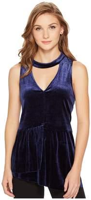 Kensie Smooth Velvet Sleeveless Top KSNK34S8 Women's Clothing