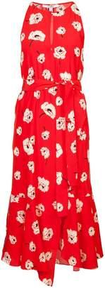 Derek Lam 10 Crosby Sleeveless Belted Dress With Asymmetrical Hem