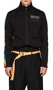 "Off-White c/o Art Dad Men's ""Essentially Time Traveling"" Terry Track Jacket-Black"