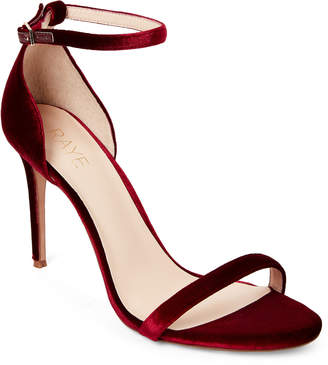 Raye Scarlet Blake Two-Piece Velvet Sandals