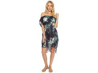 Echo Paradise Palm Off The Shoulder Women's Clothing